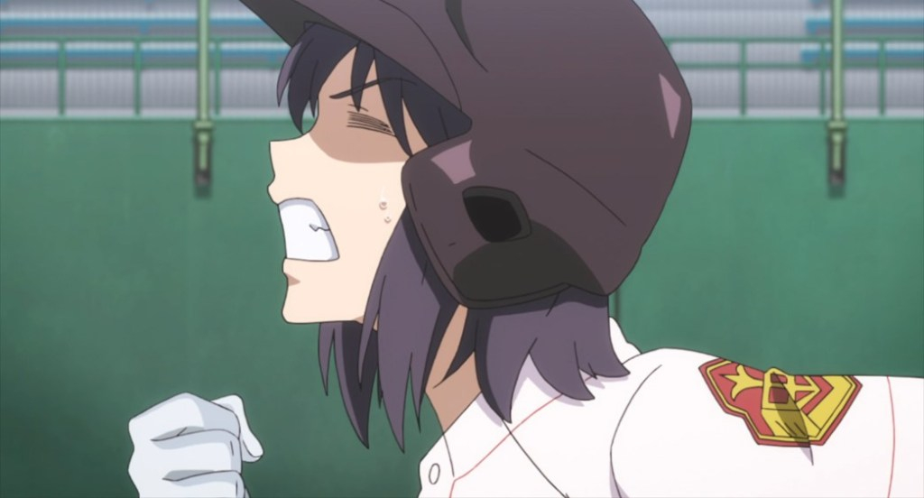 Tamayomi The Baseball Girls Episode 10 Rei Okada sprinting for First