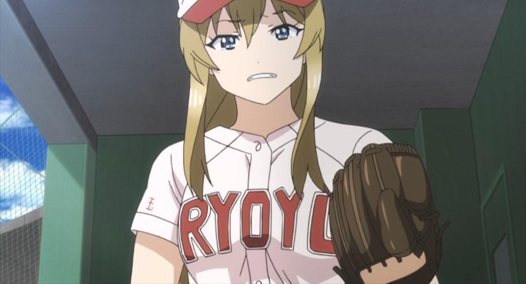 Tamayomi The Baseball Girls Episode 12 Ryoyukan's pitcher after getting pulled
