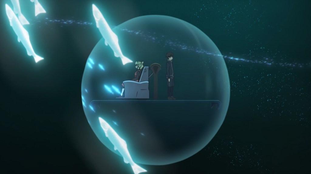 Tower of God Episode 11 Bam and Rachel underwater