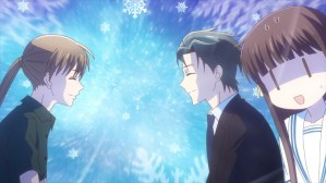 Fruits Basket Episode 40 Mayuko and Shigure at Tohru's career discussion