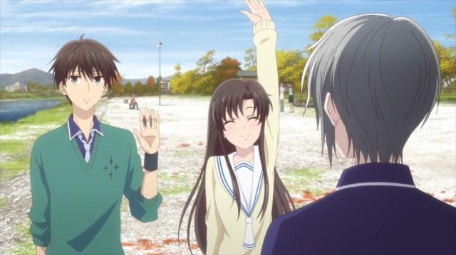 Fruits Basket Episode 42 Kakeru and Kimi with Yuki