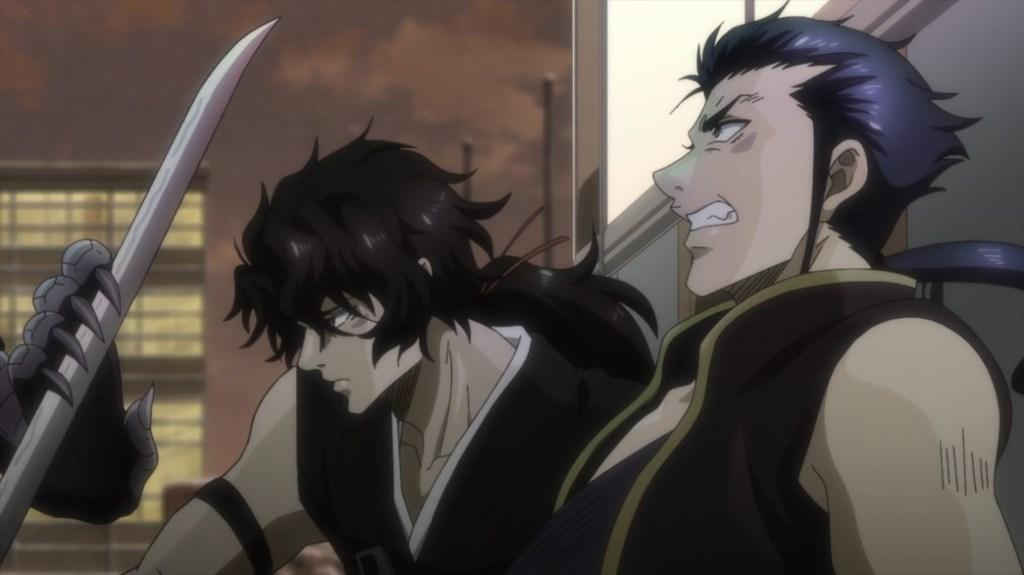 Gibiate Episode 12 Sensui and Kenroku fighting Yoshinaga