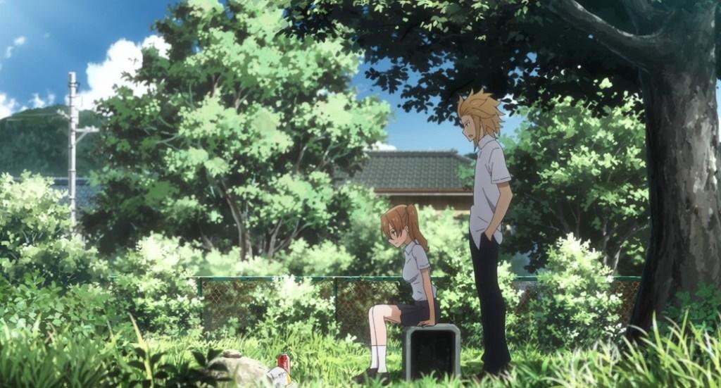 Gleipnir Episode 12 Kaito found Honoka visiting Aiko's grave