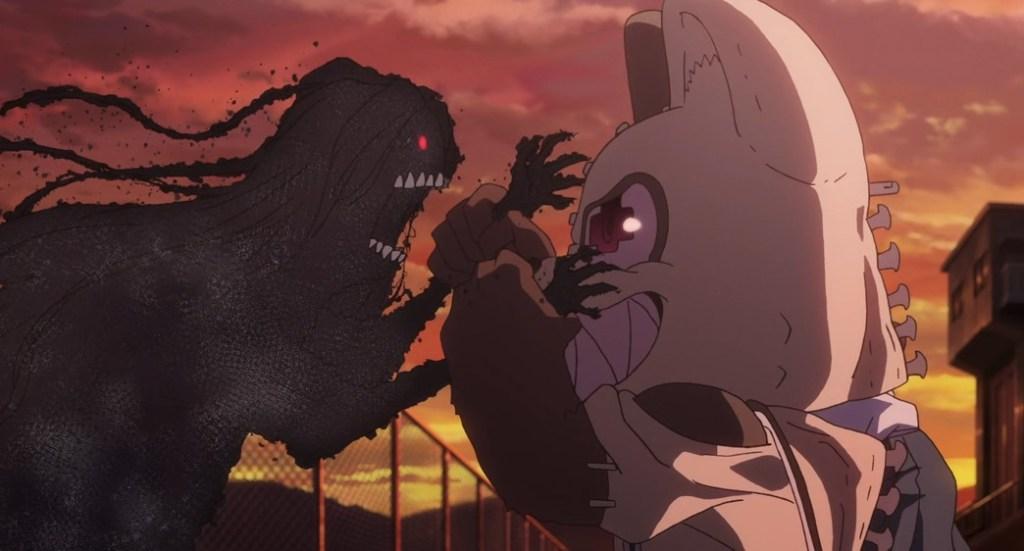 Gleipnir Episode 13 Elena fights Shuuichi and Clair