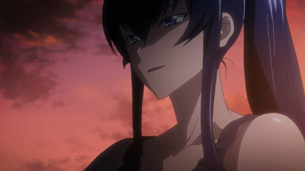 Highschool of the Dead Episode 9 Saeko Ready to Fight