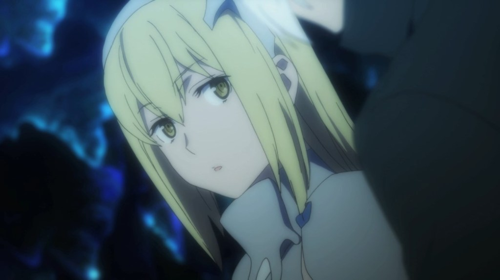 Is It Wrong To Try To Pick Up Girls In A Dungeon II Episode 0 Aiz Wallenstein Surprised