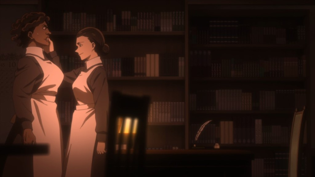 The Promised Neverland Episode 4 Mother putting Krone in her place again