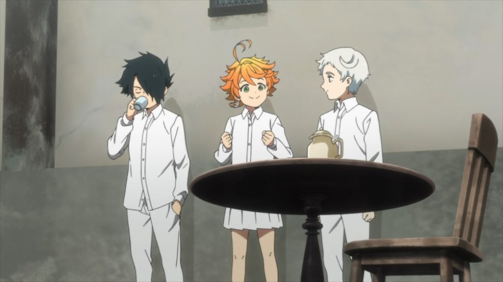 The Promised Neverland Episode 4 Norman Ray and Emma