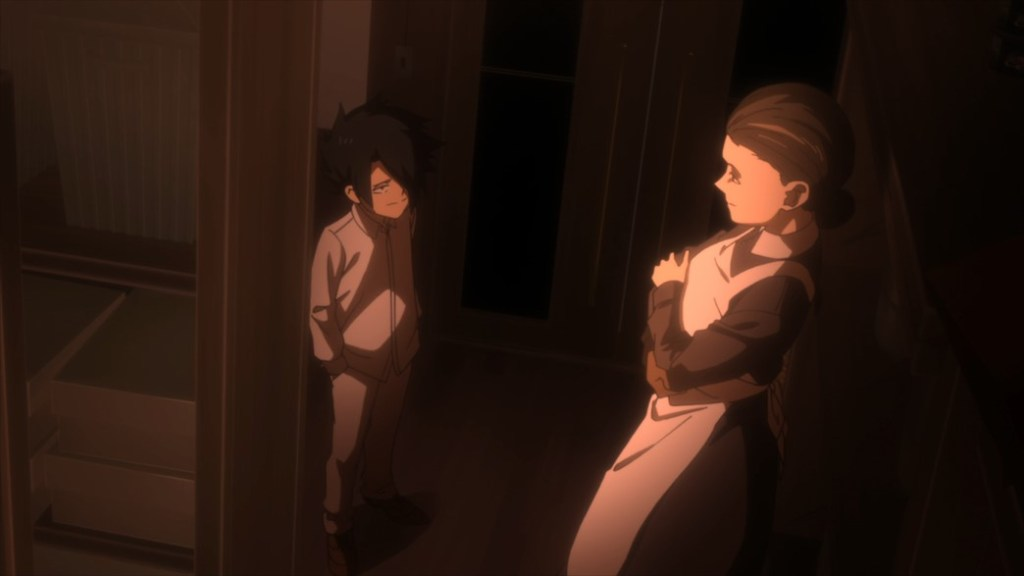 The Promised Neverland Episode 5 Ray reports to Mother