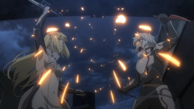 Is It Wrong To Try To Pick Up Girls In A Dungeon III Episode 11 Ais versus Bell