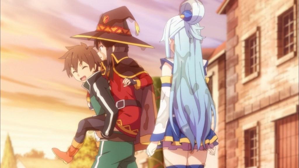 KonoSuba Episode 2 Is Aqua wearing Panties