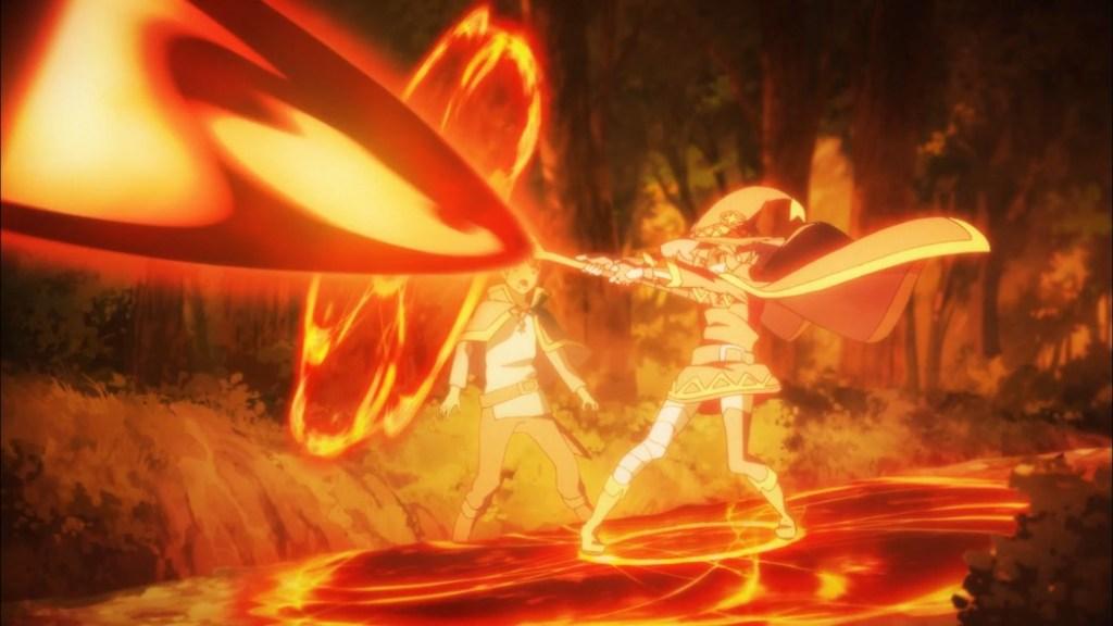 KonoSuba Episode 4 Megumin uses Explosion Magic