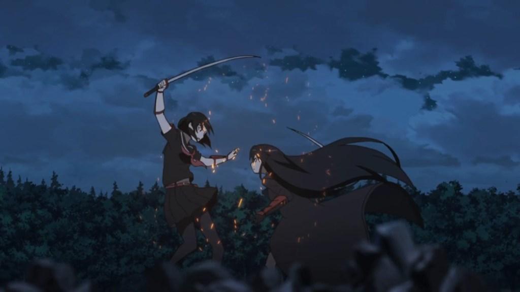Akame ga Kill Episode 22 Akame and Kurome Fighting
