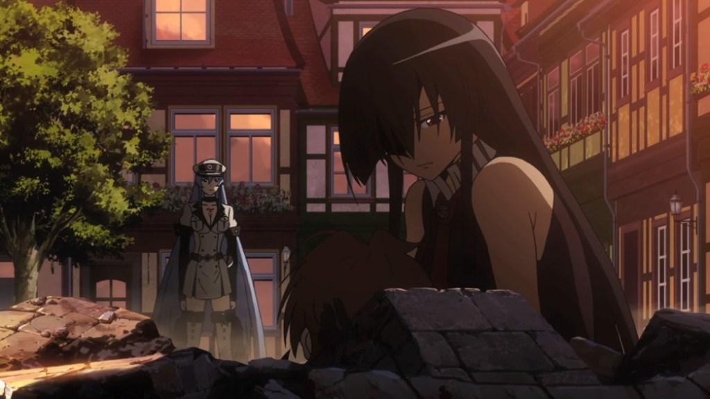 Akame ga Kill Episode 23 Akame and Esdeath see Tatsumi die