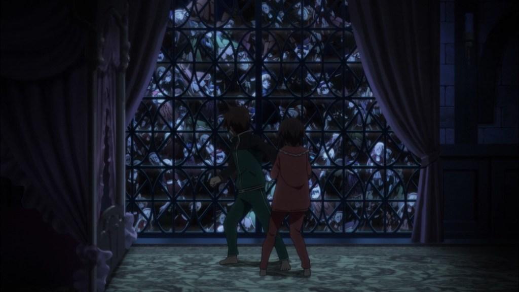 KonoSuba Episode 8 Kazuma and Megumin running from spirits