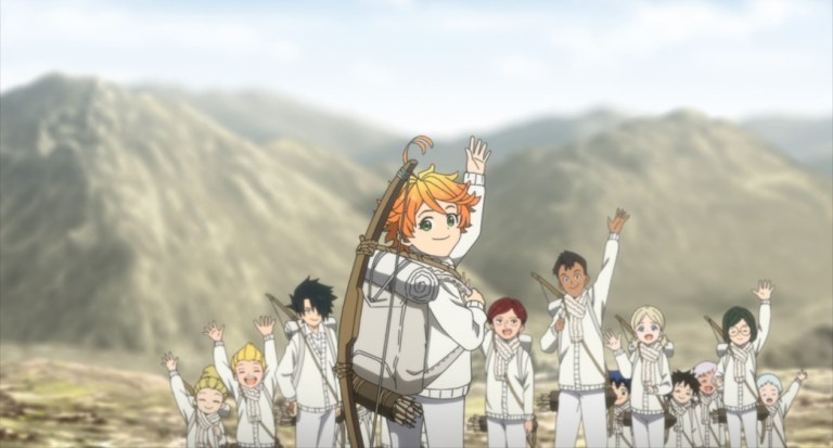 The Promised Neverland Season Two Episode 3 The kids say goodbye to Sonju and Mujika