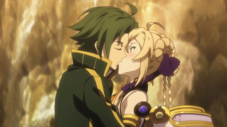 Record of Grancrest War Episode 12 Siluca and Theo kiss