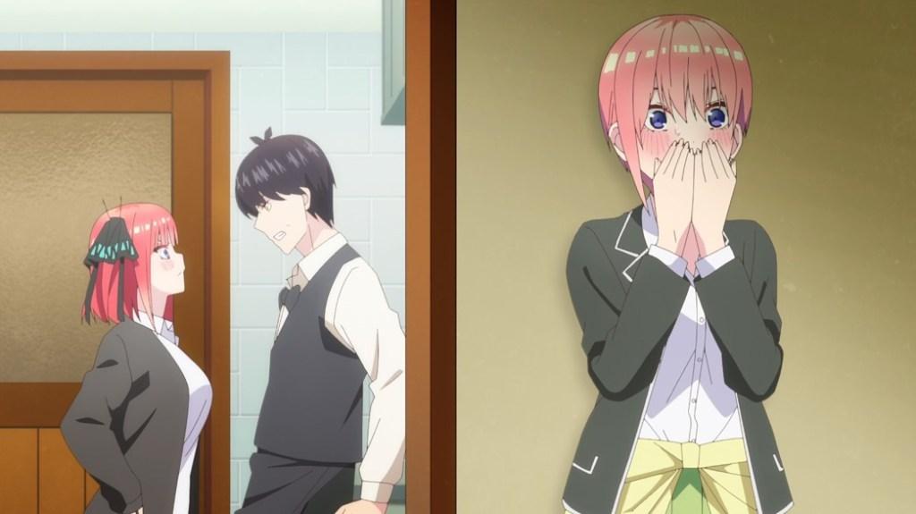 The Quintessential Quintuplets Episode 19 Ichika hears Nino confess to Futaro