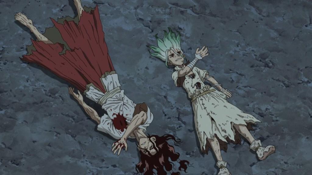 Dr Stone Stone Wars Episode 10 Tsukasa and Senku
