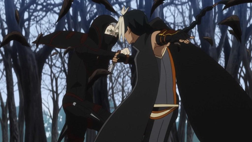 Record of Grancrest War Episode 14 Irvin fighting an assassin