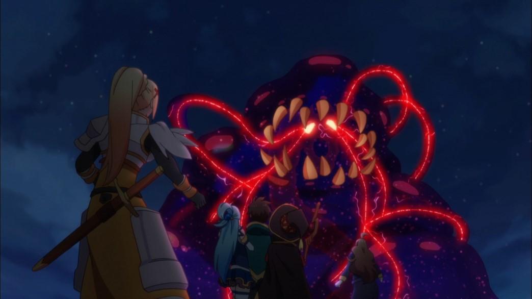 KonoSuba Episode 21 Hans the poison slime demon general
