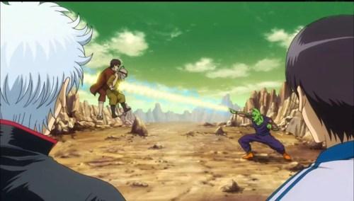 Animes que Gintama fez paródia Cena clássica de Dragon Boll - Gintama