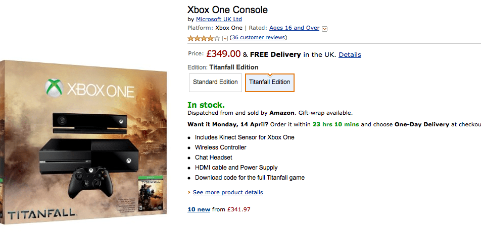 Xbox One + Titanfall à 420€ !