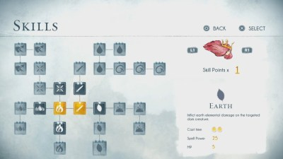 L'arbre de compétences de Child of Light