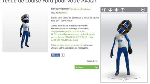 Mon avatar est aux couleurs de Ford !