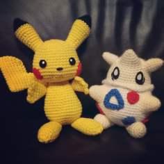 pikachu_and_togepi_crochet_by_sirpurlgrey-d7ij9us