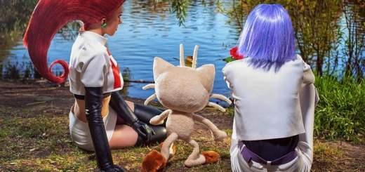Cosplay de Jessie et James de la Team Rocket (Pokémon)