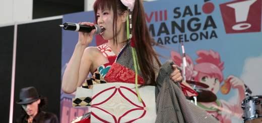 Loverin Tamburin lors de leur prestation au salon du manga de Barcelone.