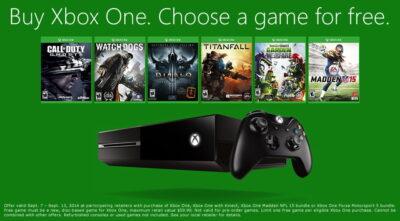 Aux USA, Microsoft offre 1 jeu pour tout achat d'une One !