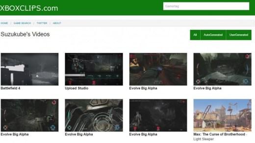 Tous les clips Xbox réunit sur le web !