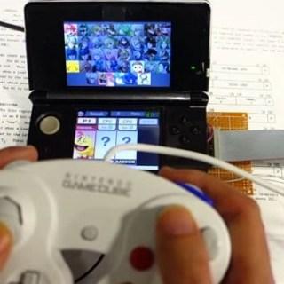 Non, ce n'est pas du Streaming, juste une manette GameCube sur une 3DS !