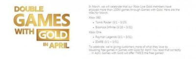 Deux fois plus de jeux offerts en Avril !