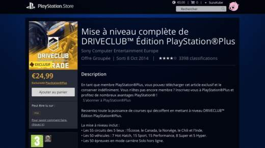 DriveClub Edition Playstation Plus arrive ?