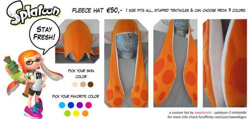 Un chapeau Splatoon personnalisable !