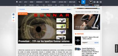 Un exemple d'article de publicité affiliée qui fait actuellement débat sur jeuxvideo.com