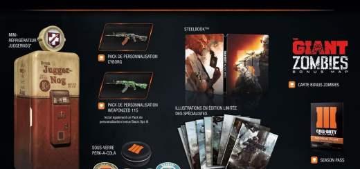L'édition collector de Black Ops III et son mini frigo !