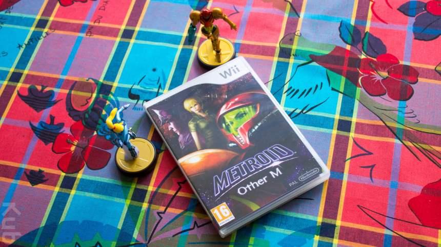 Metroid : Other M accompagné des deux Amiibo Samus ^^ !