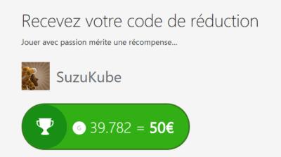 Don de mon code de 50€ de réduction !