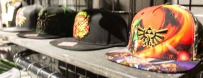 Plusieurs casquettes de l'univers Zelda