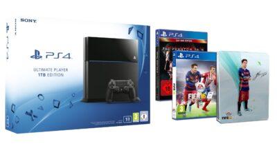 Promo sur La PS4 1To + Fifa 16 + Steelbook FIFA 16 exclusif + Metal Gear Solid V : The Phantom Pain