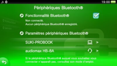 Le casque Bluetooth Audiomax est reconnu par la PS Vita !