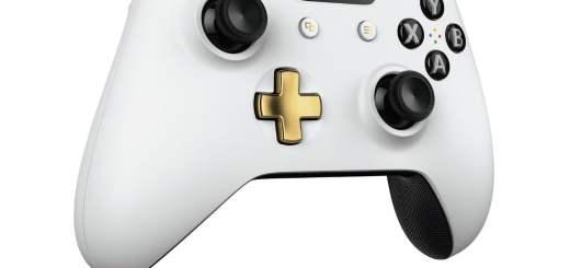La manette Xbox One Lunar White.