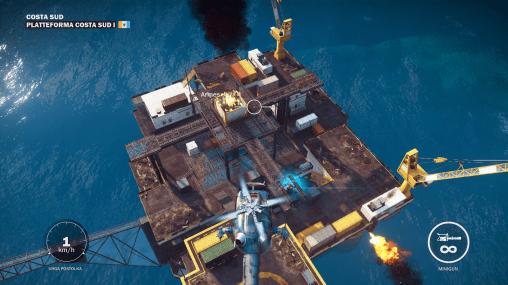 Une plateforme pétrolière... Hé hé hé !