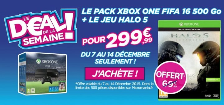 Une petite offre Xbox One Sympa !