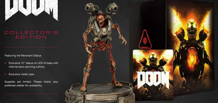 L'édition collector de DOOM est disponible !