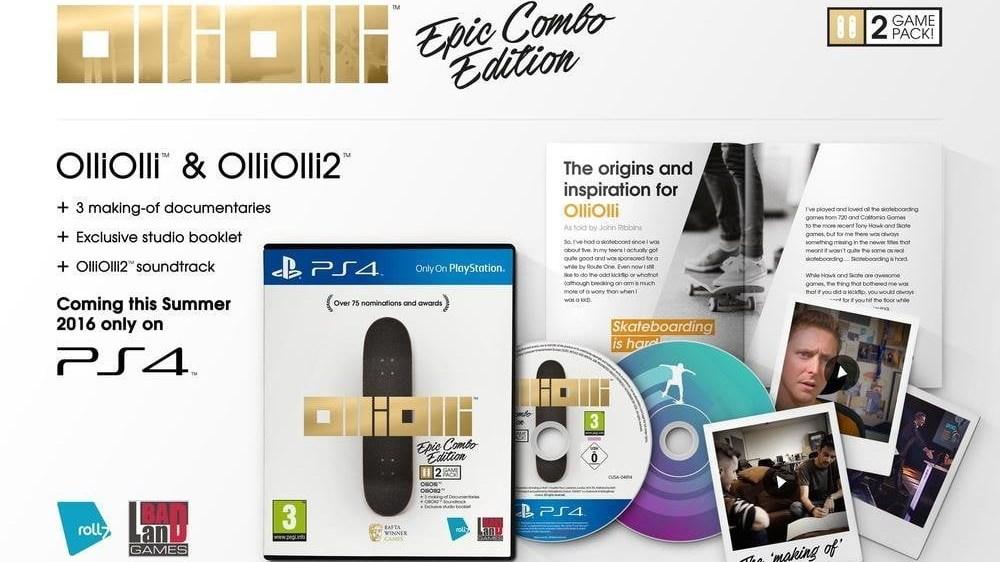 L'édition limité de OlliOlli Epic Combo Edition est idéale pour les fans du jeu !